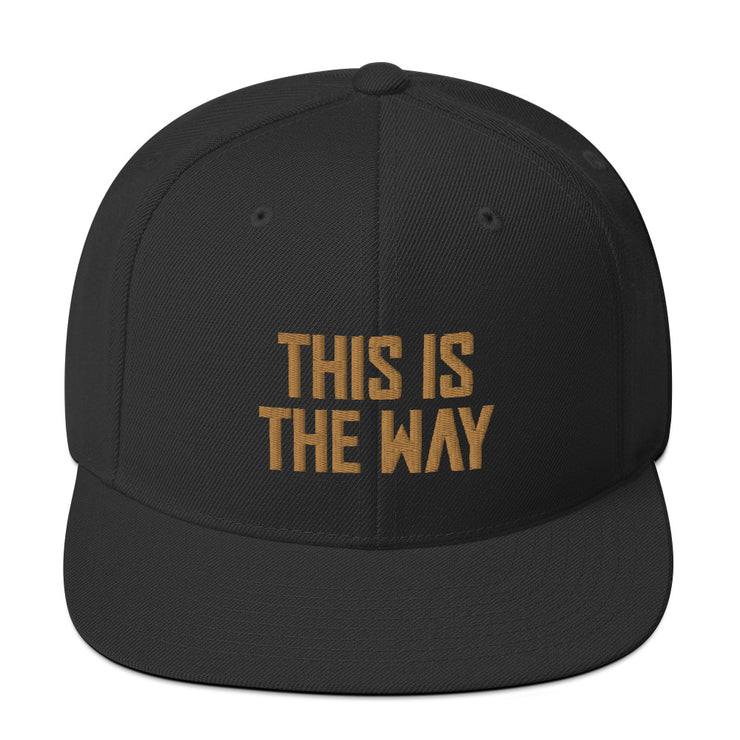 This Is The Way Black Snapback Hat