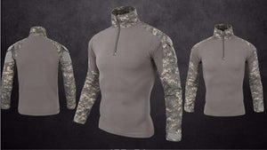 Army Tactical Military Uniform Camouflage Shirt Long Sleeve Shirt - Tactical Cave