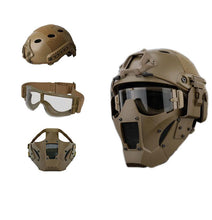 Load image into Gallery viewer, Bump Helmet Set with Steel Mesh Mask and Goggles - Tactical Cave