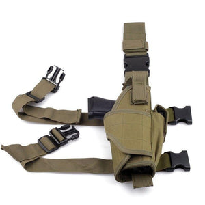 Drop Leg Holster with Magazine Pouch/Left or Right Handed - Tactical Cave