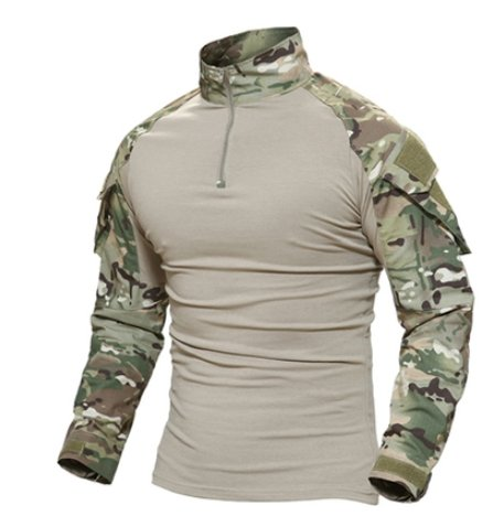 Men's Camouflage Tactical Top - Tactical Cave