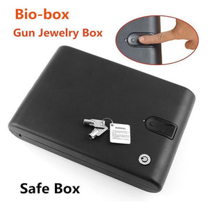 Solid Steel Portable Gun Safe with Fingerprint Access - Tactical Cave