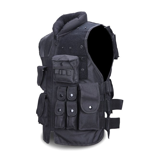 Tactical Military Vest Plate Carrier Men's Black - Tactical Cave