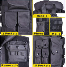 Load image into Gallery viewer, Tactical Military Vest Plate Carrier Men's Black - Tactical Cave