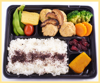 Simmered Tofu Fritters Bento
