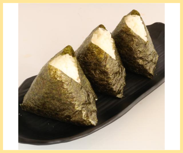 Plain Onigiri with Seaweed 1pc