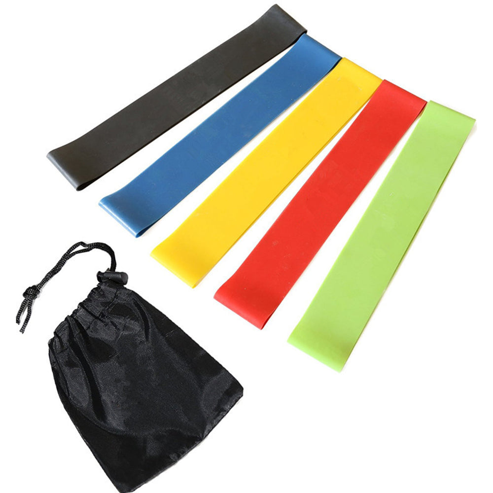 5pcs Full Body Resistance Loop Band Set