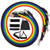 11 Pcs/Set Resistance Bands Fitness Body Exercise Gym Equipment for Home with Bag for Man and Woman