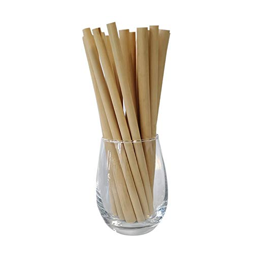 Reed Wood Drinking Straws | 20pcs + Cleaning Brush | Drinking Straws Made From Reed Wood | 100% Natural & Reusable | Sustainable, Biodegradable & Plastic-Free