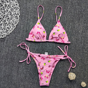 Sexy String Bikini 2020 Women Butterfly Print Push Up