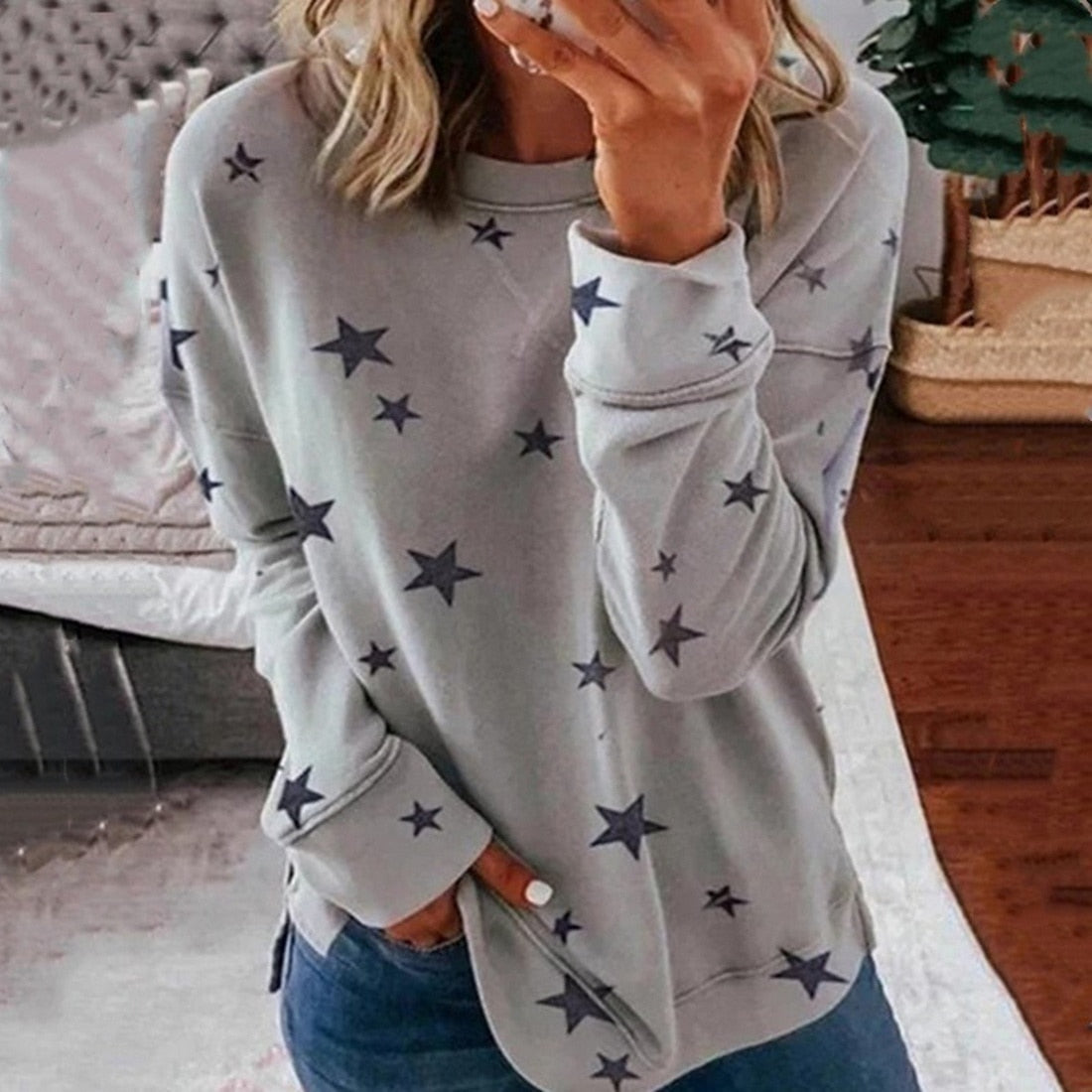 Star Print Tee Long Sleeve