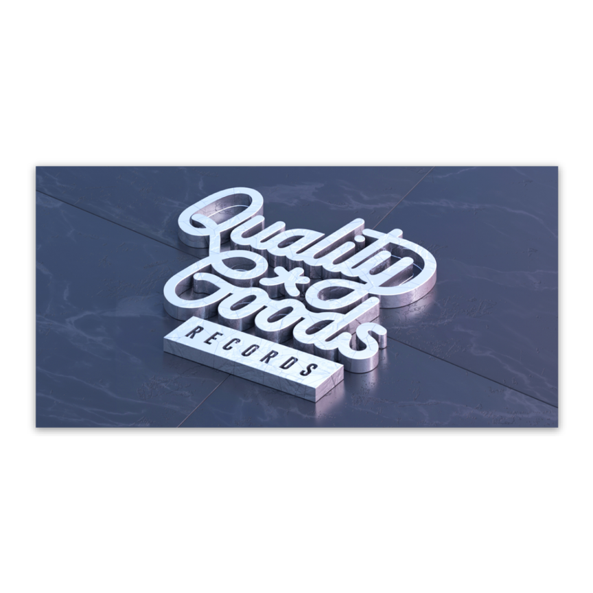 Quality Goods Records Square Sticker