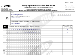 IRS Form 2290 (Federal Heavy Vehicle Use Tax)