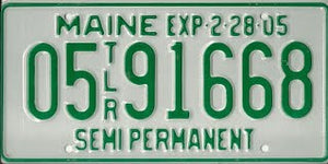 Maine Trailer Registration - 12 year