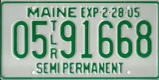 Maine Trailer Registration - 6 year