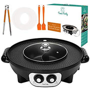 Food Party 2 in 1 Electric Smokeless Grill and Hot Pot - Canada