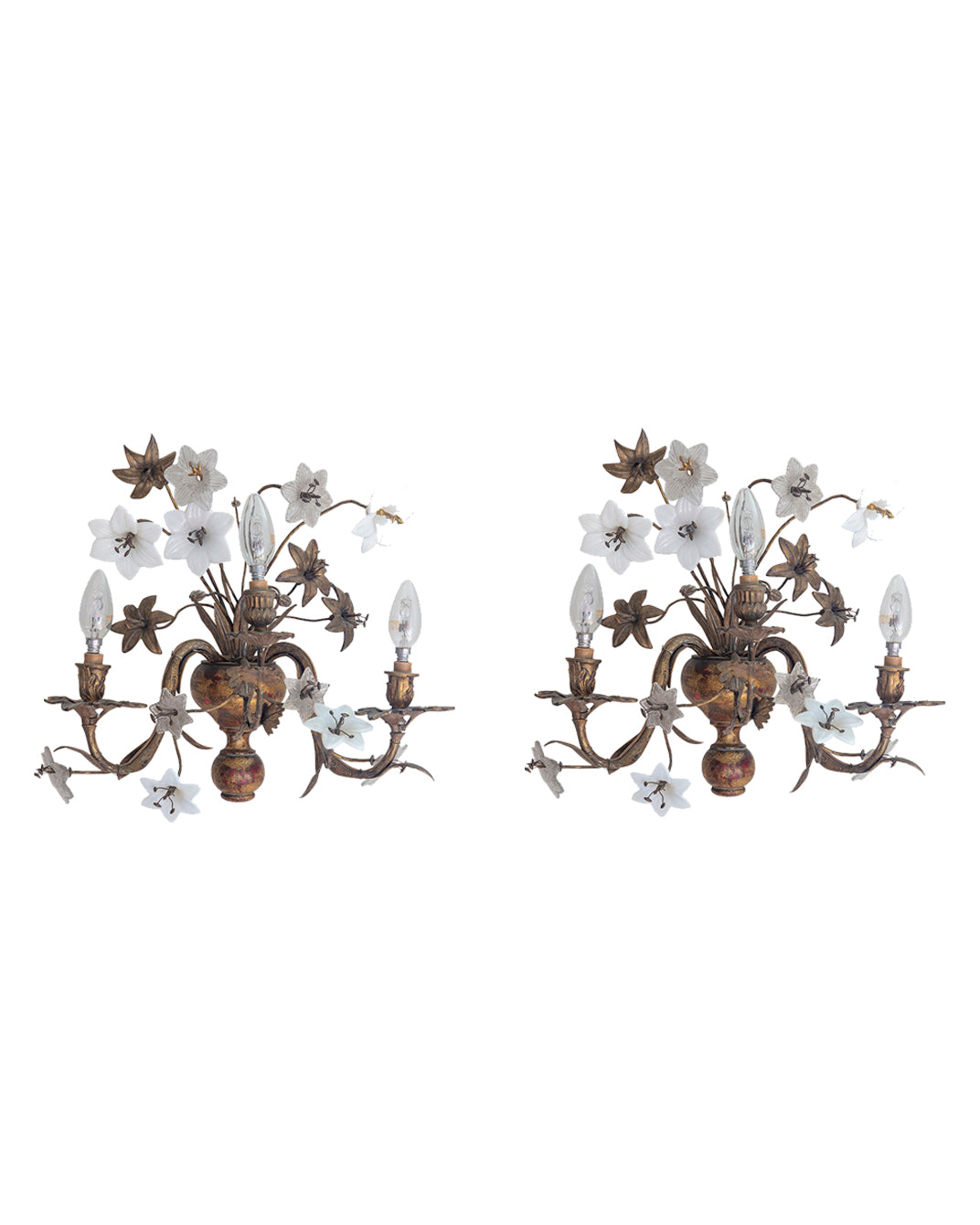 Pair of floral sconce. France. Beginning of the XIXth century