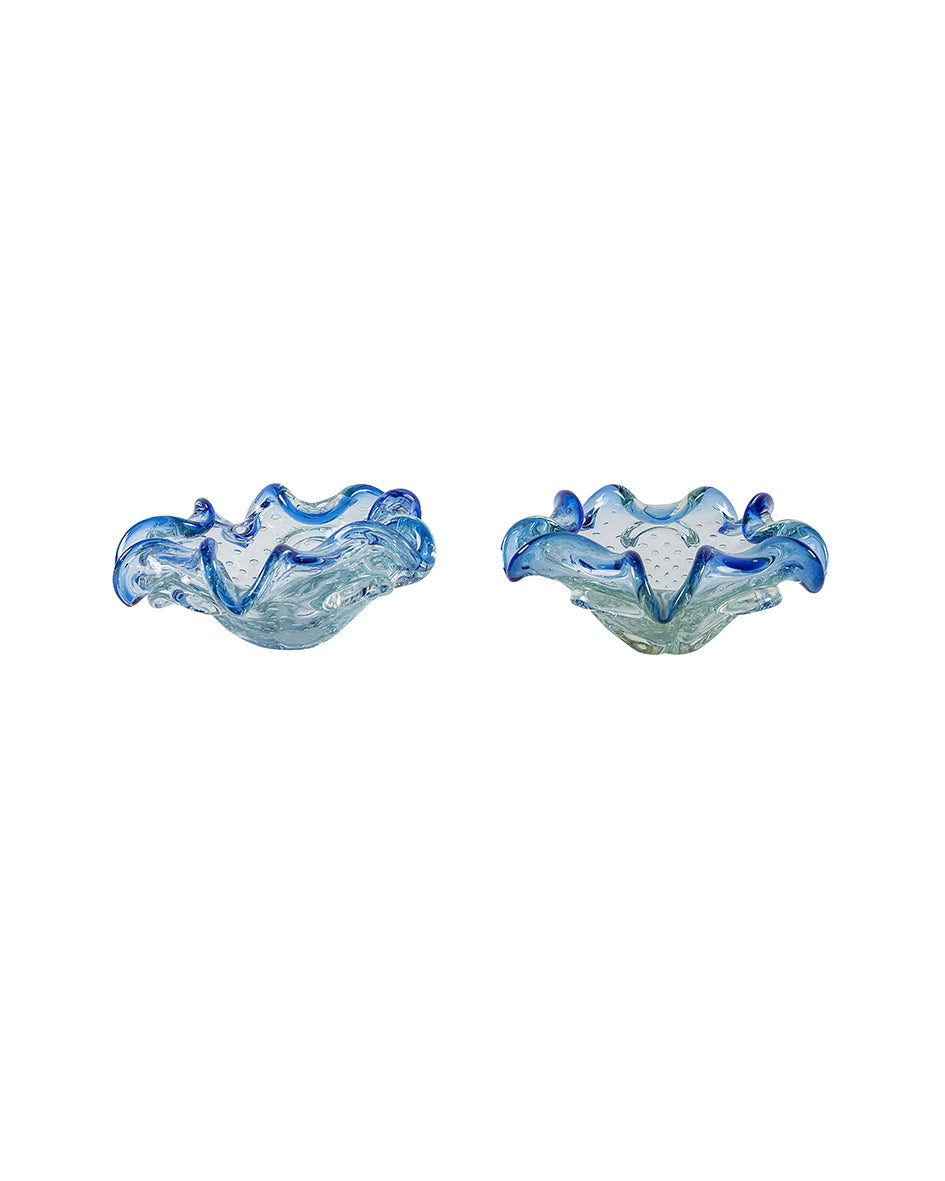 Blue Venetian glass ashtray
