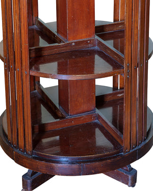 Rotating library-table. England. XIXth century