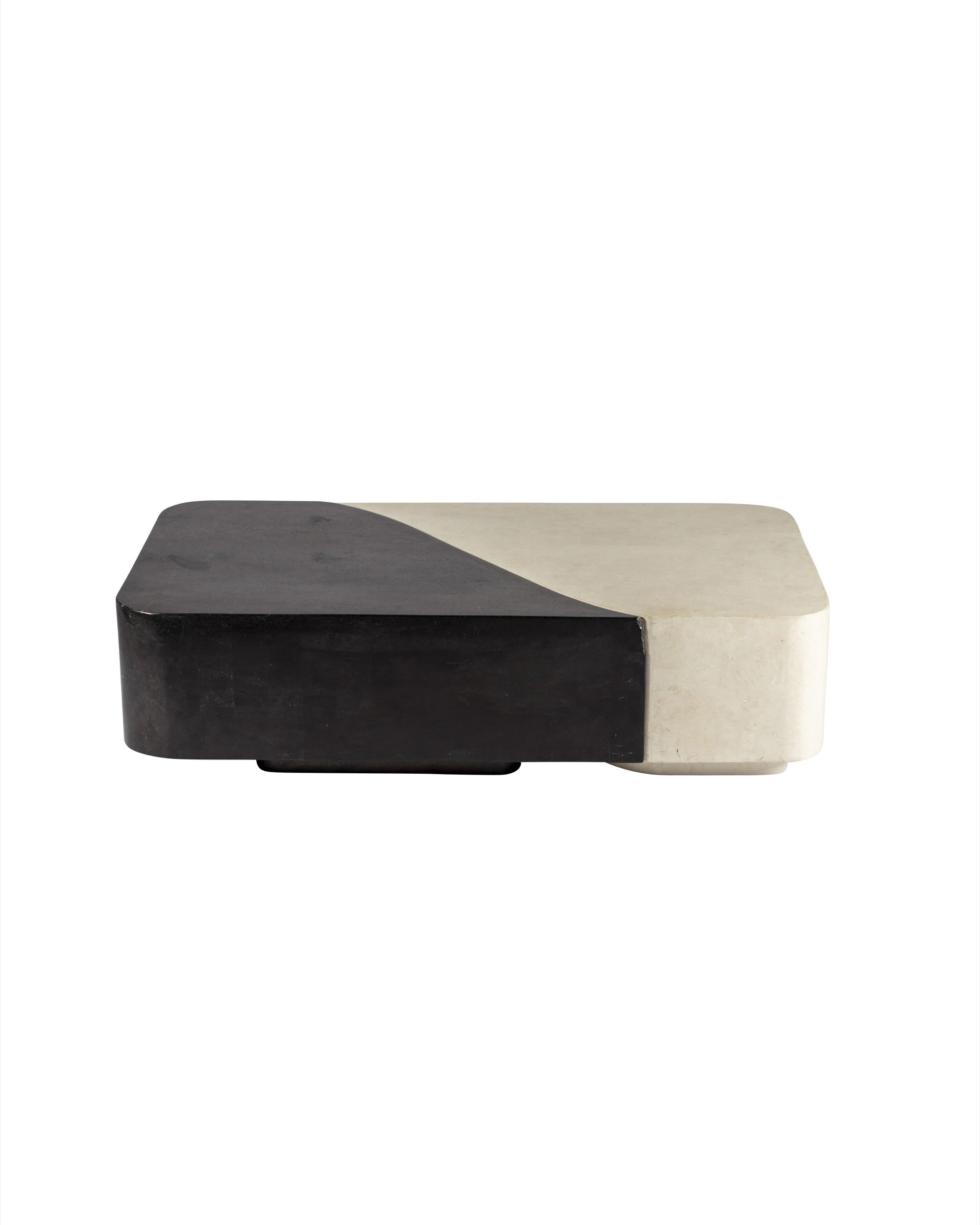 Black and white resin coffee table