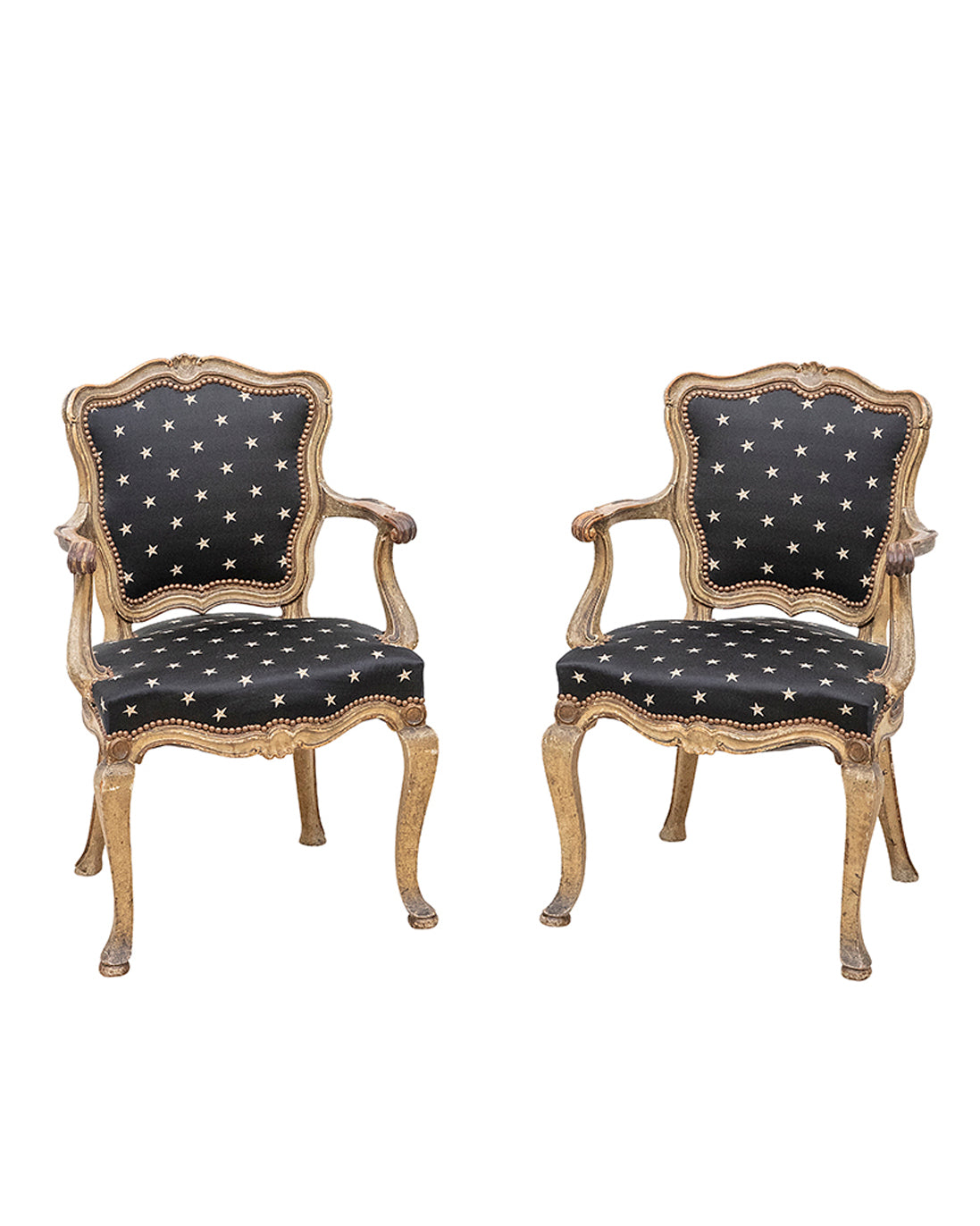 Pair of Italian armchairs. XIX century