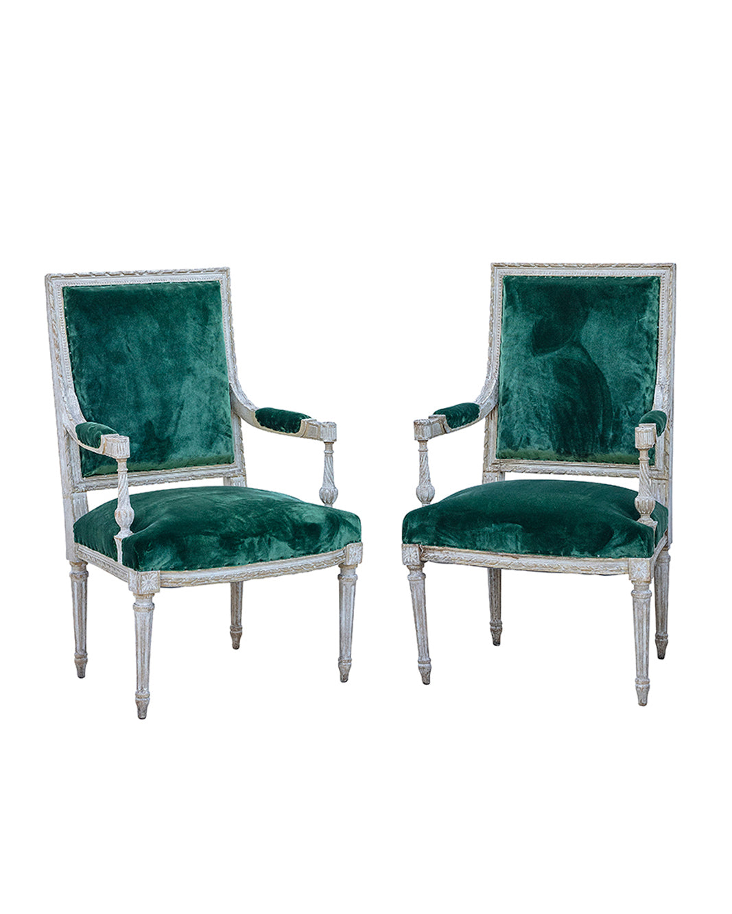 Pair of armchairs from the beginning of the directoire style. France 19th century