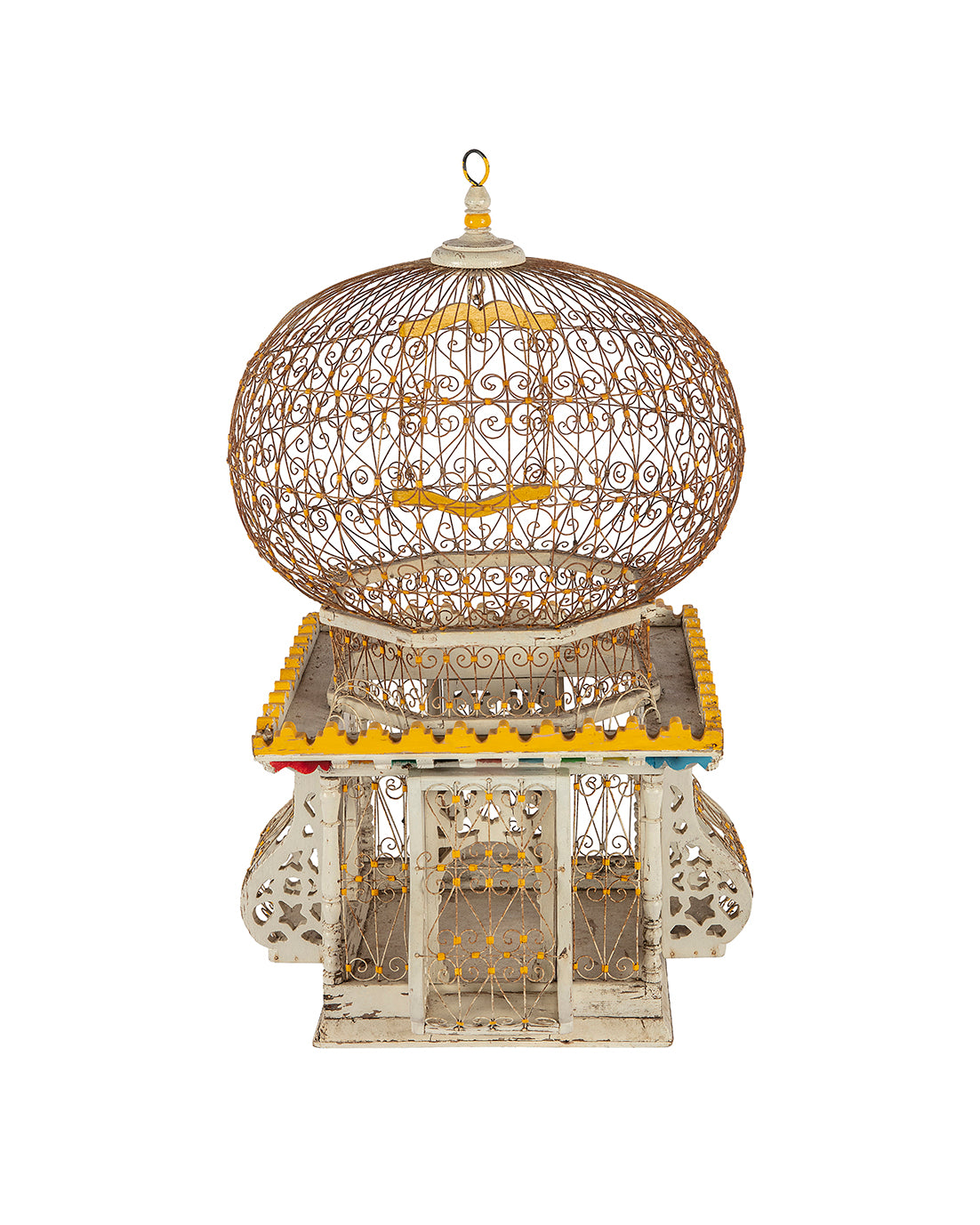Indian-styled yellow birdcage
