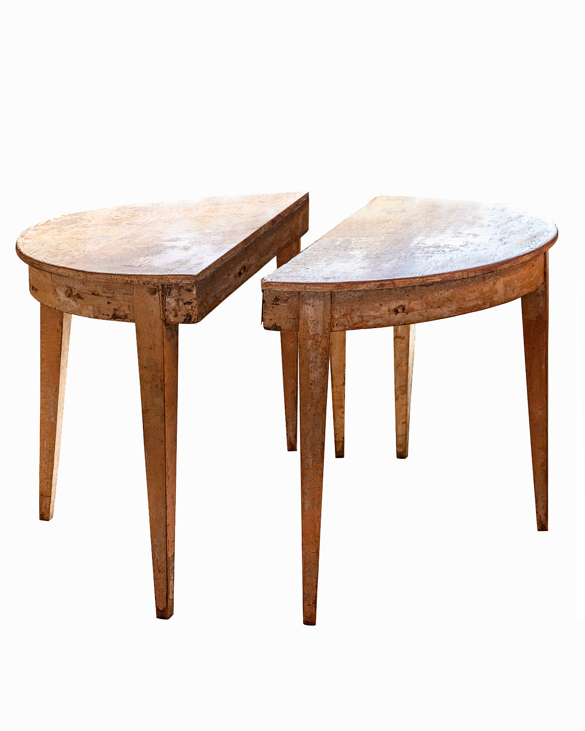 Swedish console tables set. XIXth century