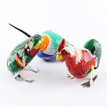 Load image into Gallery viewer, Hot Children's Classic Tin Clockwork Toy Jump Frog Old Hen Mouse Children's Classic Building Block Toy Boy Education jm79