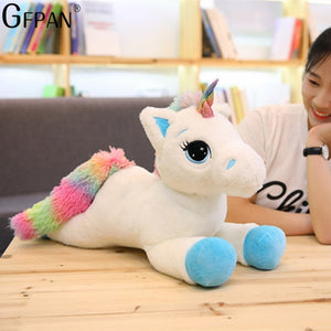 Giant 110/60cm Unicorn Plush Toy Soft Stuffed Popular Cartoon Unicorn Doll Animal Horse Toy High Quality Toys for Children Girls