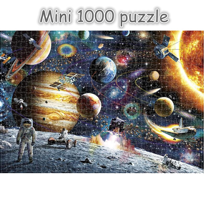 mini puzzle jigsaw puzzles 1000 pieces wooden Assembling puzzles toys for adults children kids games educational Toys