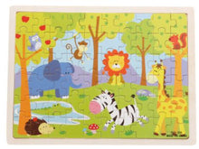 Load image into Gallery viewer, 60pcs Cartoon Wooden Toys 8 STYLES 3D Wooden Puzzle Jigsaw Puzzle for Child Educational Toy