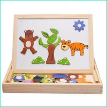 Load image into Gallery viewer, Wooden Toys Magnetic Drawing Board Puzzle Toys Children 3D Puzzle Drawing Board Children Learning Educational  Wooden Toy100+pcs