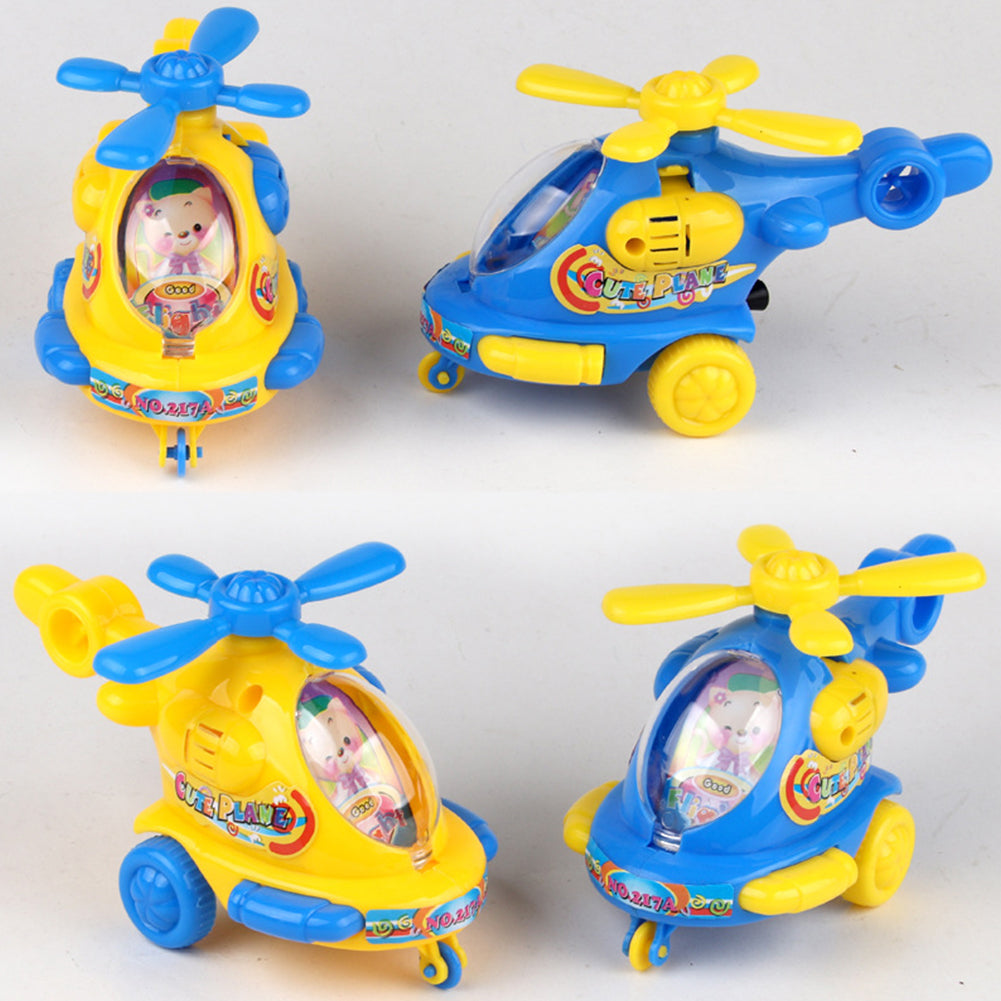 Model Flying Plastic Kids Gift Wind Up Animal DIY Pull Rope Children Clockwork Cartoon Classic Cute Toy Helicopter