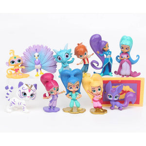 12 PCS Action Figure Toy Popular Garage Kit Baby Kids Shimmer Children Shine Cartoon Kids Toys Fashion Cute