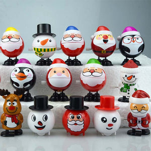 Popular Christmas Classic Clockwork Toys заводные игрушки Cute Santa Snowman Elk Kids  Gift Party Toys FT007
