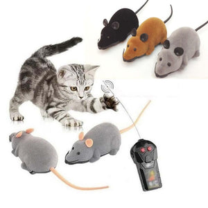 Novelty Mouse Toy Wireless Remote Control Electronic False Mice Interactive Toys Gift For Cats Kids Lovely Fluffy RC Mouse Toys