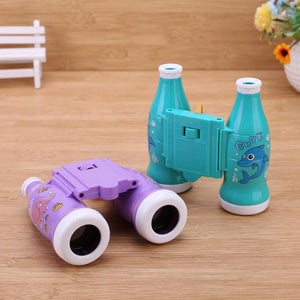 11 X 8 cm Kids Cola Design Binoculars Telescope Magnification Focusable Telescope Educational Toys Children's Classic Toy Gifts