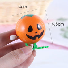 Load image into Gallery viewer, 1Pcs Classic Cartoon Halloween Theme Pumpkin Head Smile Wind Up Toys Mini Creative Children Entertainment Toys Festival Supplies