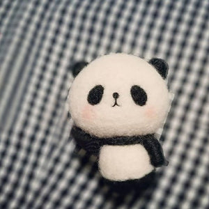 2019 Creative Popular Pets Toy Doll Wool Felt Poked Kitting DIY Cute Chinese Panda Kung Fu Wool Felting Package Non-Finished