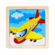 Load image into Gallery viewer, Mini Size 11*11CM Kids Toy Wood Puzzle  Wooden 3D Puzzle Jigsaw for Children Baby Cartoon Animal/Traffic Puzzles Educational Toy