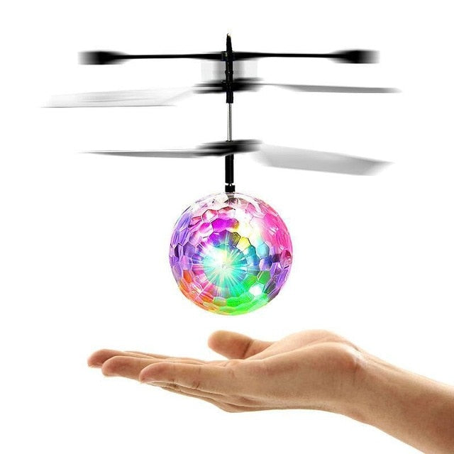 Glowing LED Magic Flying Ball design electronic stuffed toy  aircraft curious toy for kids children improving intelligence gifts