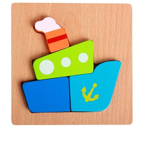 MWZ Wooden 3D Puzzle Jigsaw Wooden Toys for Children Montessori Toys Puzzle Cartoon Animal Puzzle Kids Educational Game