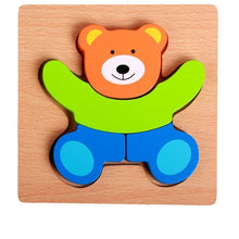 Load image into Gallery viewer, MWZ Wooden 3D Puzzle Jigsaw Wooden Toys for Children Montessori Toys Puzzle Cartoon Animal Puzzle Kids Educational Game
