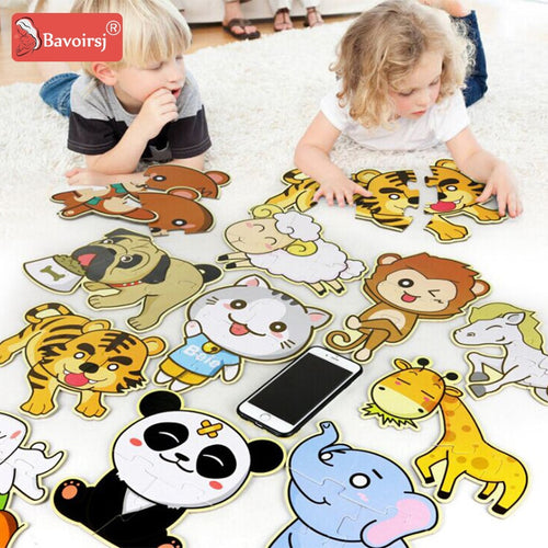 Big Size Early Education Kids Puzzles Baby Toy Waldorf Montessori Baby Toys Cartton Waterproof Paper Puzzles T0284