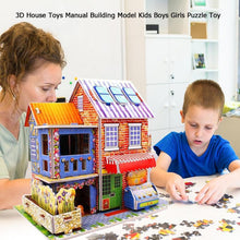 Load image into Gallery viewer, Kids DIY toy 3D Wooden puzzles Dollhouse 2019 Time Apartment Doll House Furniture Educational Toys Furniture For children gift