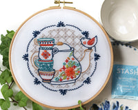Embroidery Kit: Tea Party
