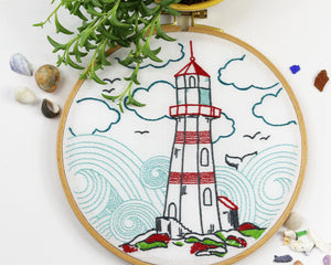 Embroidery Kit: Lighthouse