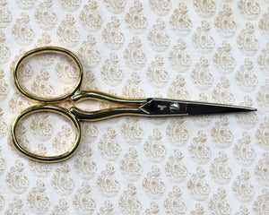Scissors: Gold-Handled Italian