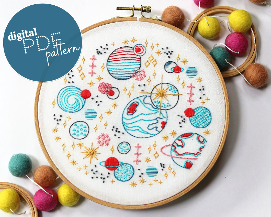 PDF Pattern: Galaxy (download file)